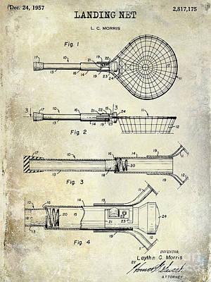 1957 Landing Net Patent Drawing Poster by Jon Neidert