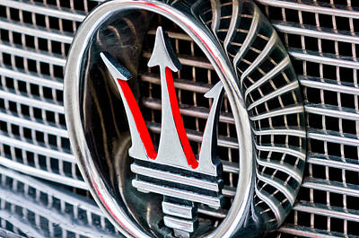 1957 Maserati Grille Emblem Poster by Jill Reger