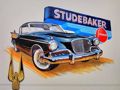 1957 Studebaker Golden Hawk Poster