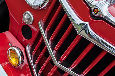 1957 Willys Jeep 6-226 Wagon Grille Emblem Poster by Jill Reger