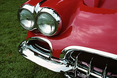 1958 1950s Corvette Headlights Poster