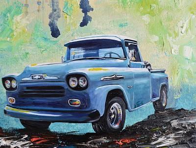 1958 Chevy Apache Pickup Truck Poster by Sheri Wiseman