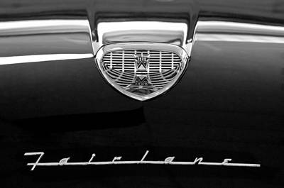 1958 Ford Fairlane 500 Victoria Hood Emblem Poster
