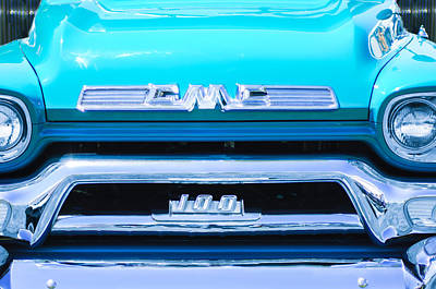 1958 Gmc Series 101-s Pickup Truck Grille Emblem Poster by Jill Reger