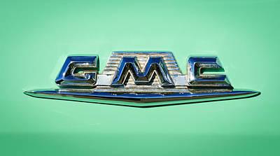 1958 Gmc Suburban Emblem Poster