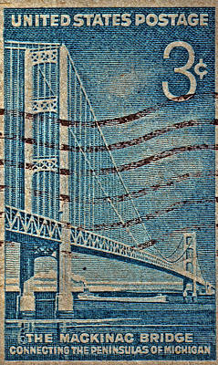 1958 The Mighty Mac Stamp Poster