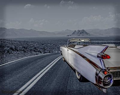 1959 Cadillac Eldorado Cool Night Poster