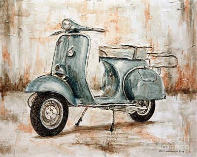 1959 Douglas Vespa Poster by Joey Agbayani