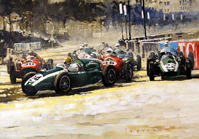 1959 Monaco Gp  #24 Cooper Climax T51 Jack Brabham Winner  Poster