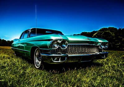 1960 Cadillac Coupe De Ville Poster by motography aka Phil Clark