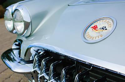 1960 Chevrolet Corvette Hood Emblem Poster by Jill Reger