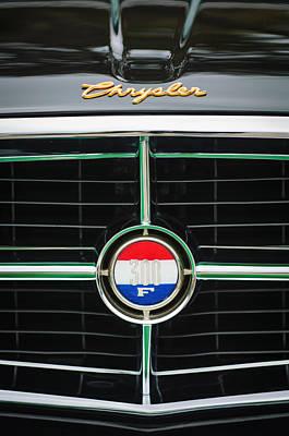 1960 Chrysler 300f Convertible Grille Emblem Poster
