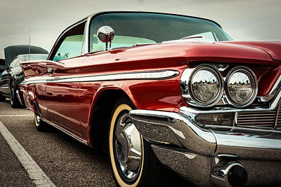 1960 Desoto Fireflite Coupe - Three Quarters Front Poster by Jon Woodhams