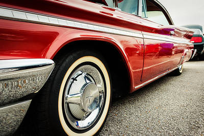1960 Desoto Fireflite Coupe Low Side View Poster by Jon Woodhams
