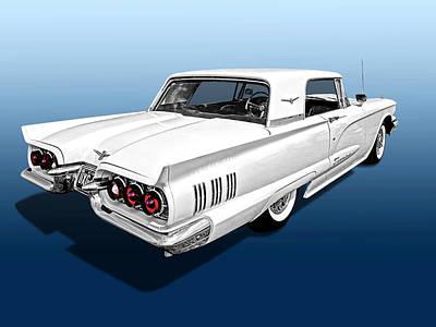 1960 Ford Thunderbird Poster by Gill Billington