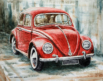 1960 Volkswagen Beetle 2 Poster by Joey Agbayani