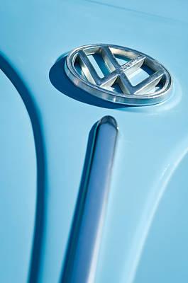 1960 Volkswagen Vw Hood Emblem Poster by Jill Reger