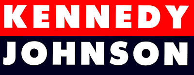 1960 Vote Kennedy Johnson Poster