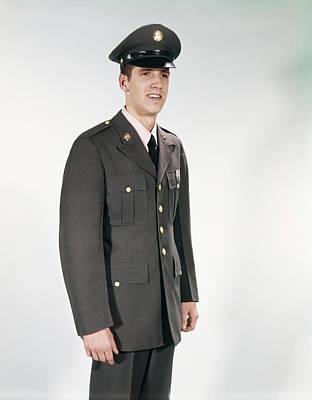 1960d 3 4 Length Portraint Man Soldier Poster