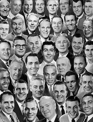 1960s 1970s Montage Of Mens Portraits Poster