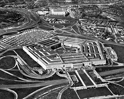 1960s Aerial View Of Army Pentagon Poster