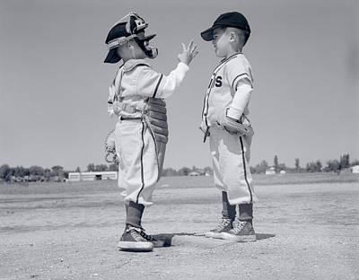 1960s Boy Little Leaguer Pitcher Poster