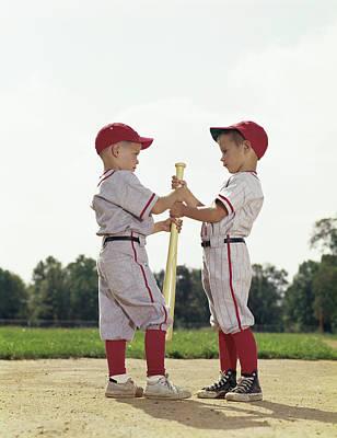 1960s Boys Children Baseball Sports Poster