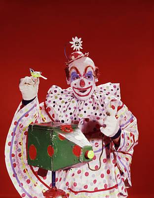 1960s Circus Clown Photographer Camera Poster