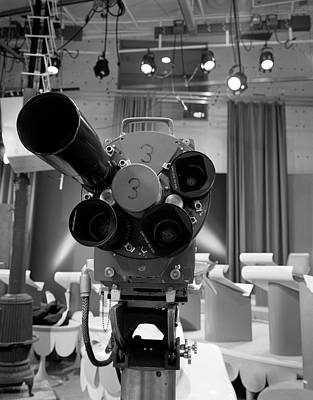 1960s Close-up Of Tv Camera Lenses Poster