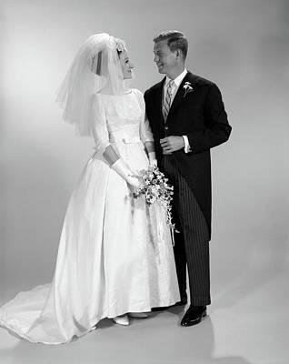 1960s Couple Wedding Portrait Poster