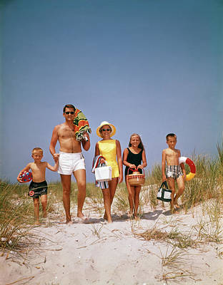 1960s Family Walking Together Poster