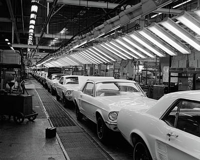 1960s Interior Of Ford Mustang Plant Poster