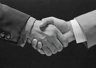 1960s Male Handshake Poster