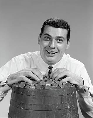 1960s Man Funny Facial Expression Poster