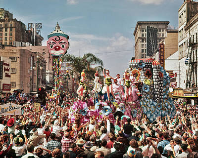 1960s Mardi Gras Rex Parade On Canal Poster