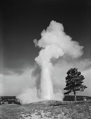1960s Old Faithful Geyser Erupting Poster