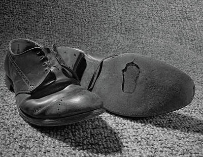 1960s Old Shoes Well Worn With Hole Poster