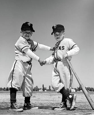 1960s Pair Of Little Leaguers Poster
