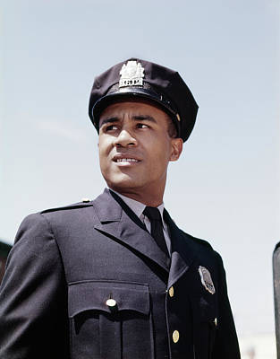 1960s Portrait African American Police Poster