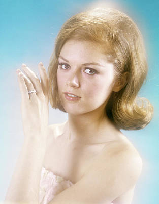 1960s Pretty Young Woman Looking Poster