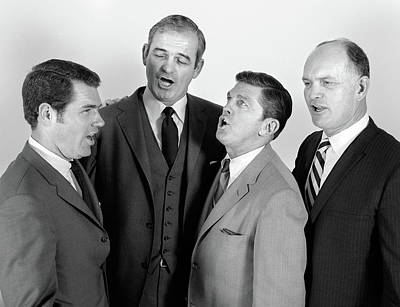1960s Quartet Of Four Businessmen Poster