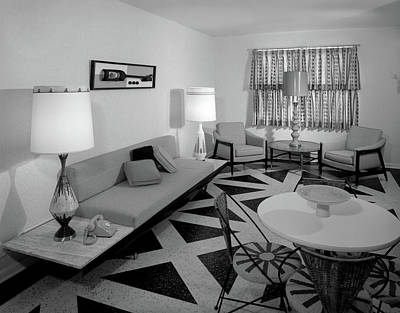 1960s Recreation Room Interior Poster