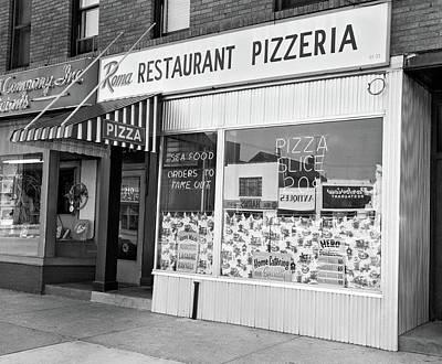 1960s Restaurant Pizzeria Storefront Poster