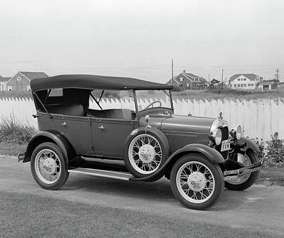 1960s Side View Of 1929 Model A Ford Poster
