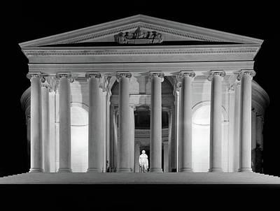 1960s Thomas Jefferson Memorial Lit Poster