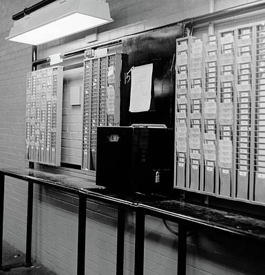 1960s Time Clock & Card Slots In Large Poster