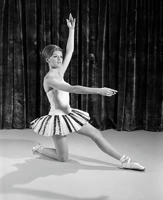 1960s Young Woman Ballerina Ballet Poster