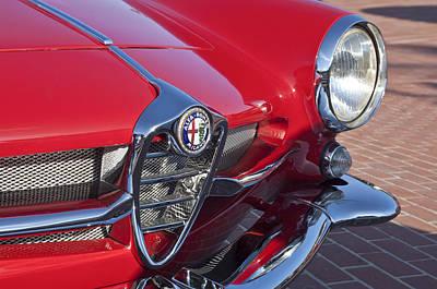 1961 Alfa Romeo Giulietta Sprint Speciale Grille Emblem Poster by Jill Reger