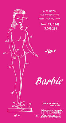 1961 Barbie Doll Patent Art 1 Poster by Nishanth Gopinathan