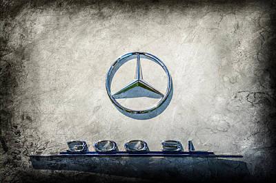 1961 Mercedes Benz 300sl Roadster Emblem -0585ac Poster by Jill Reger